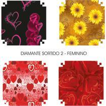 Papel Presente 50X60Cm Couche Linha Diamante Feminino Ii 4Md Pct.C/40 V.M.P. -