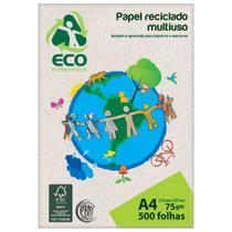 Papel Reciclado Multiuso A4 75g 500 folhas Eco Millennium Jandaia -