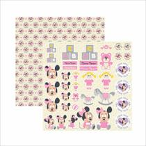 Papel Scrapbook Disney Baby Minnie Recortes SDFD029 - Toke e Crie
