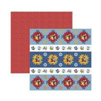 Papel Scrapbook Dupla Face - A Casa Do Mickey 1 - Forminhas E Toppers  - SDFD120 - 19704 - - Toke E Crie