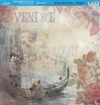 Papel Scrapbook Litoarte 30,5x30,5 SD-066 Venice e Rosas Bege -