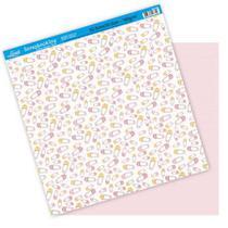 Papel Scrapbook Litoarte 30,5x30,5 SD-098 Alfinete Menina Rosa -