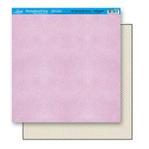 Papel Scrapbook Litoarte 30,5x30,5 SD-107 Poá Rosa -