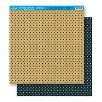 Papel Scrapbook Litoarte 30,5x30,5 SD-143 Poá Azul e Bege -