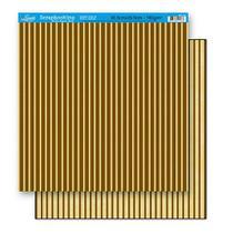 Papel Scrapbook Litoarte 30,5x30,5 SD-147 Listras Bege e Marrom -
