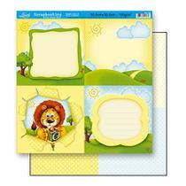 Papel Scrapbook Litoarte 30,5x30,5 SD-156 Tag Leão -