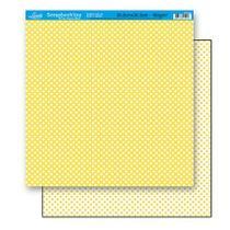Papel Scrapbook Litoarte 30,5x30,5 SD-168 Poá Amarelo -