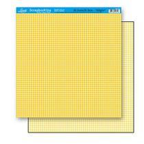 Papel Scrapbook Litoarte 30,5x30,5 SD-170 Xadrez Amarelo -