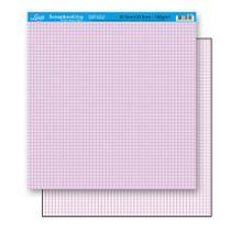 Papel Scrapbook Litoarte 30,5x30,5 SD-181 Xadrez Lilás -