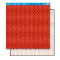 Papel Scrapbook Litoarte 30,5x30,5 SD-191 Poá Vermelho -
