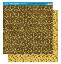 Papel Scrapbook Litoarte 30,5x30,5 SD-224 Estampa de Onça Amarelo -