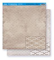 Papel Scrapbook Litoarte 30,5x30,5 SD-255 Abstrato Bege -
