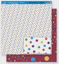 Papel Scrapbook Litoarte 30,5x30,5 SD-260 Poá Colorido -