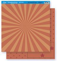 Papel Scrapbook Litoarte 30,5x30,5 SD-267 Abstrato e Estrela Laranja -