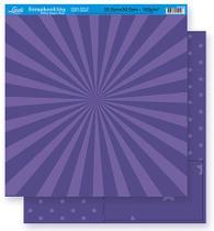 Papel Scrapbook Litoarte 30,5x30,5 SD-268 Abstrato e Estrela Roxo -