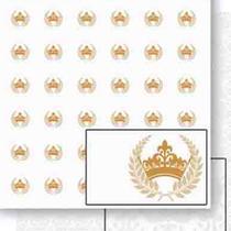 Papel Scrapbook Litoarte 30,5x30,5 SD-454 Coroa e Ramos Dourado -