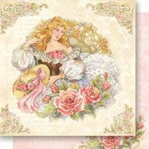 Papel Scrapbook Litoarte 30,5x30,5 SD-529 Mulher com Chapéu -