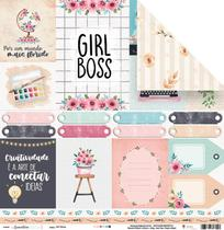 Papel Scrapbook - Quarentena Criativa - Girl Boss - 10823 - Juju Scrapbook -