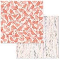 Papel Scrapbook WER101 30,5x30,5 Bo Bunny Pássaros -