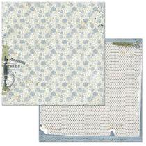 Papel Scrapbook WER112 30,5x30,5 Bo Bunny Recordação -