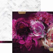 Papel Scrapbook WER162 30,5x30,5 Heidi Swapp Florescer -