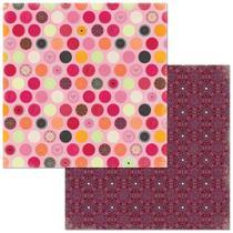 Papel Scrapbook WER274 30,5x30,5 Bo Bunny Mini Mandalas -
