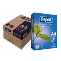 Papel Sulfite A-4 75G Report Azul 500 Folhas Caixa com 5 Pacotes -