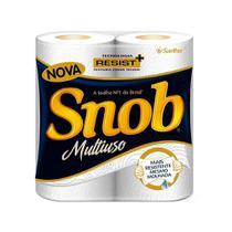 Papel Toalha Folha Dupla Branco - 12 embalagens c/ 2 unidades - Snob -