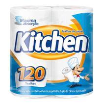 Papel Toalha Folha Dupla Kitchen 120 Folhas -