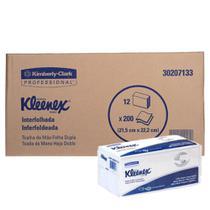 Papel Toalha Interfolhado - 2 DOBRAS, FOLHA DUPLA, KLEENEX Kimberly-Clark - Cx C/ 2400 Folhas -