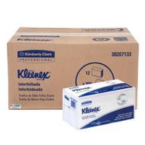Papel Toalha    Interfolhado 2D FD KLEENEX Kimberly-Clark - Cx c/ 2400 Folhas