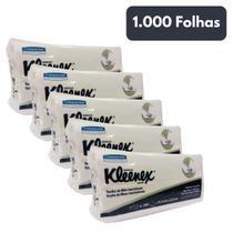 Papel Toalha Interfolhado duas Dobras Kleenex 1000 Folhas - Kimberly-Clark