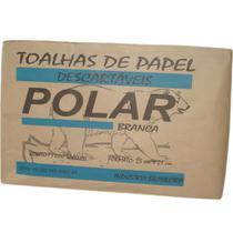 Papel Toalha Polar 2 Dobras Branco c/1000 Un -