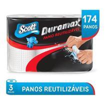 Papel Toalha Reutilizável Multiuso Scott Duramax  3 Rolos total 174 Panos -