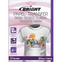 Papel Transfer A-4 Tecidos Claros - Bright