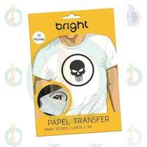 Papel Transfer Bright Para Tecidos Claros Pacote C/10 Folhas - Ponto da Sublimação -