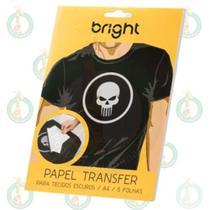 Papel Transfer Bright Para Tecidos Escuros Pacote C/5 Folhas - Ponto da Sublimação -