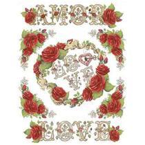 Papel Transfer Litoarte 21,8x28,4cm PTG-062 Rosa Vermelha Amor -