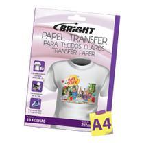 Papel Transfer para algodão A4 Tecidos Claros Bright 100 Fls -
