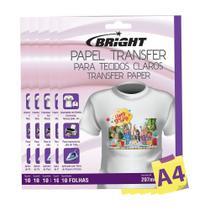 Papel Transfer para algodão A4 Tecidos Claros Bright 50Fls -