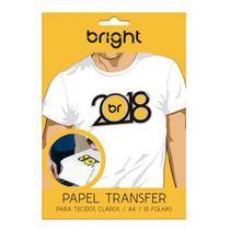 Papel Transfer para Tecidos Claros A4 10 Folhas Bright* -