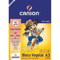 Papel vegetal 50 fls A3 60g Canson -