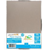 Papel Vegetal A3 297x420mm 180 g/m² Translúcido 100 Fls - Marpax