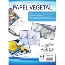 Papel Vegetal A4 90/95G. 210X297Mm Cx.C/100 Mares