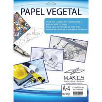 Papel Vegetal A4 90/95g. 210x297mm Mares Cx.c/100 -