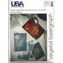 Papel Vegetal Lasergraph A4 180g/m² USA Folien 50 Folhas -