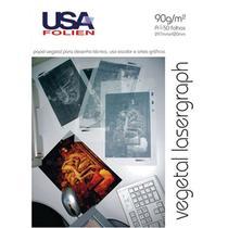 Papel Vegetal Lasergraph A4 90g/m² USA Folien 50 Folhas -