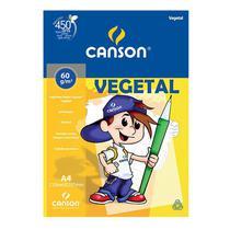 Papel vegetal liso A4 60g - com 10 folhas - Canson -