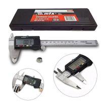 Paquímetro Digital 6 Em Aço Inox 150mm Mtx Estojo E Bateria -
