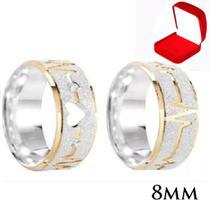 Par Aliança Prata Namoro Coração Vazado Ouro - Jewelery
